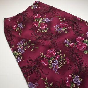 Jaclyn Smith Floral Paisley Vintage Maxi Skirt